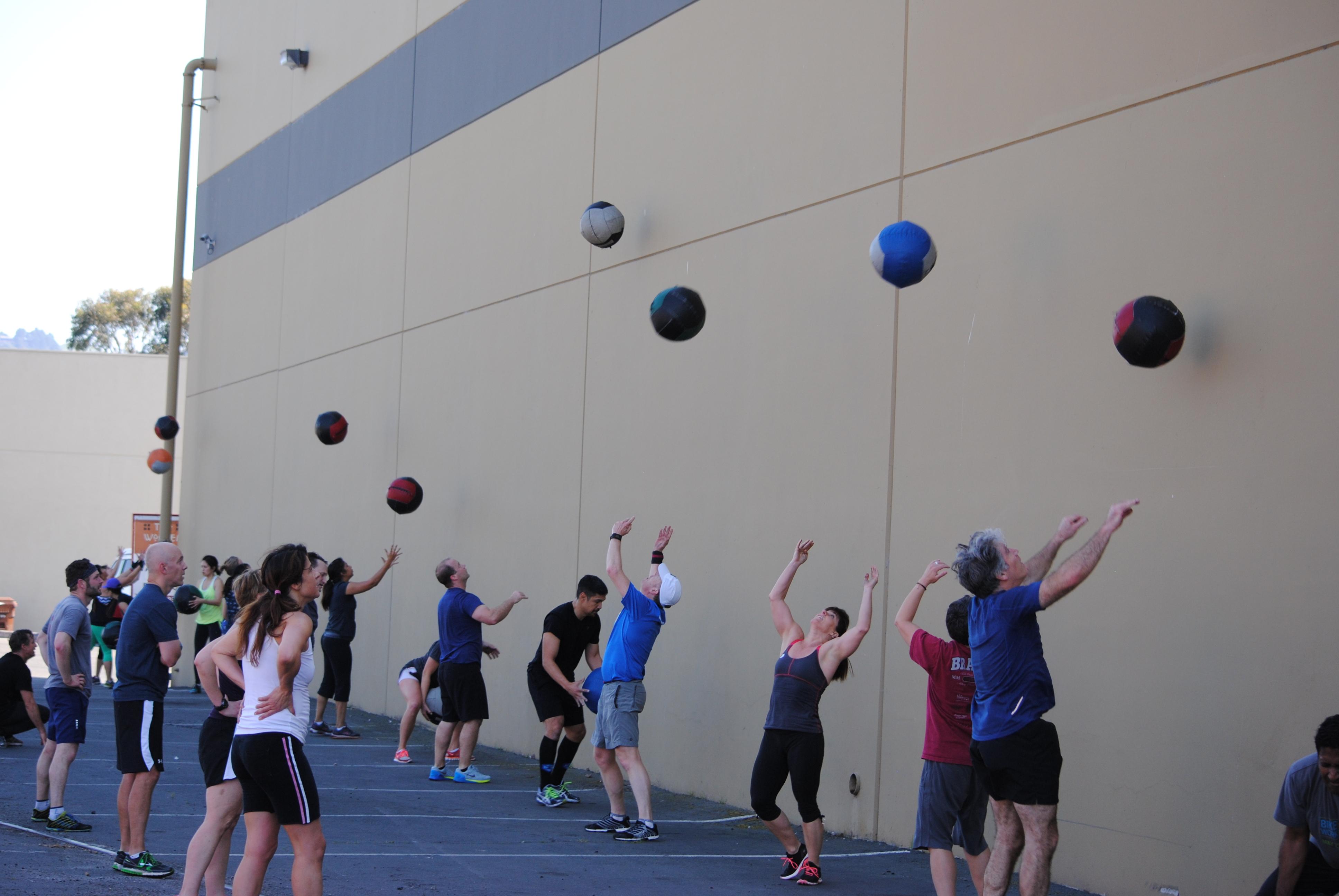 Med Ball Wall Throw